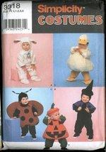 Simplicity Costumes 9318 ~ Lamb, Witch, Ladybug, Pumpkin, Duck ~ Sizes 1/2 - 4 - $12.73