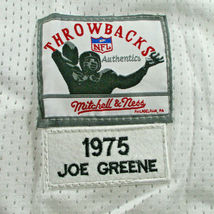 """MEAN"" JOE GREENE / AUTOGRAPHED PITTSBURGH STEELERS WHITE THROWBACK JERSEY / COA image 7"