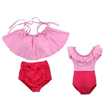 Girls Kids High Waisted Bikini Set Family Matching Mother Girl Bikini Sw... - $14.79