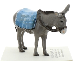 Hagen-Renaker Miniature Ceramic Donkey Figurine with Blanket