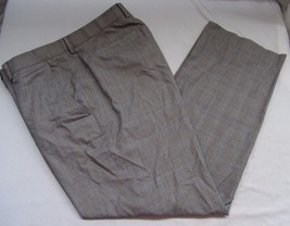 Banana Republic Modern Fit Mens Dress Pants 38 x 31 Plaid Print Flat Front Gray - $44.23