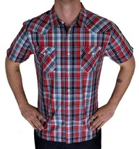 Levi's Men's Classic Button Plaid Red Geometric Shirt 3LYSW6062-App