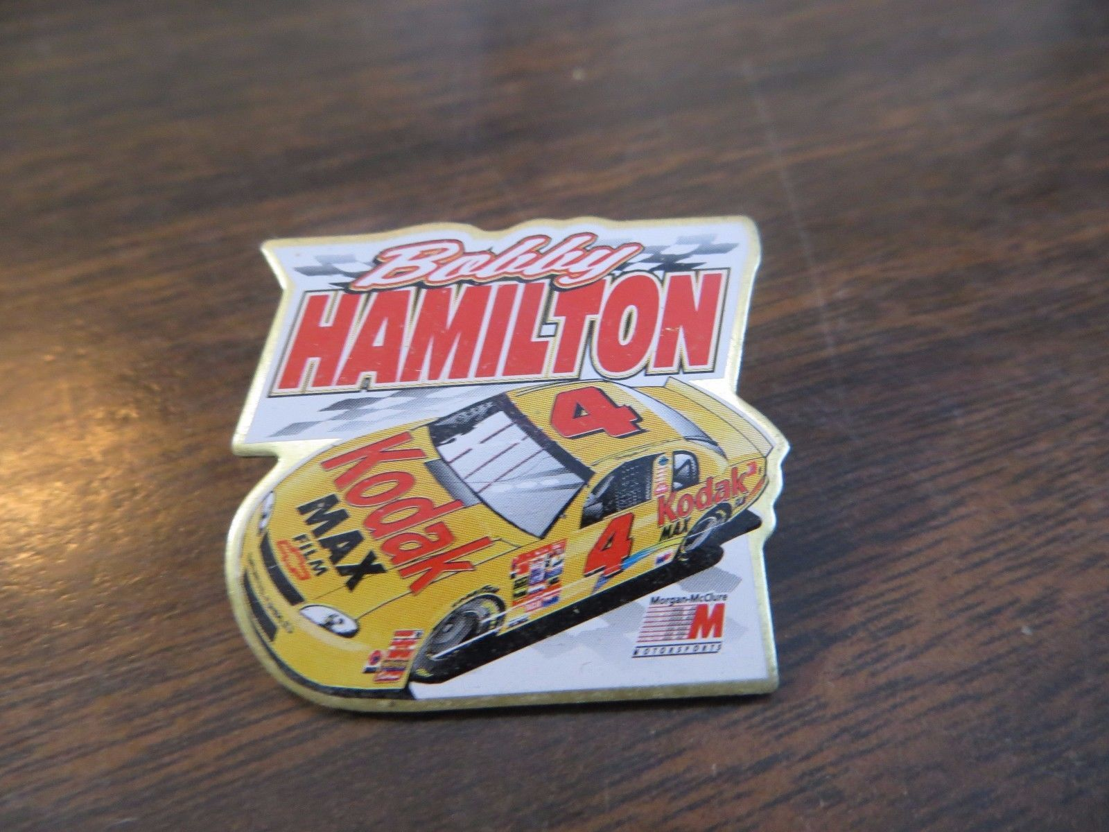 Bobby Hamilton Kodak Max #4 Nascar race car driver sponsor advertising pin 1999