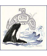 Killer Whale cross stitch chart Sue Coleman The Stitching Studio  - $14.40