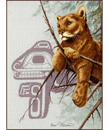 Cougar cross stitch chart Sue Coleman The Stitching Studio  - $14.40