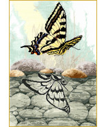 Butterfly Reflection cross stitch chart Sue Coleman The Stitching Studio  - $14.40