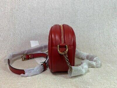 NWT Tory Burch Red Apple Kira Chevron Small Camera Bag $358 image 4
