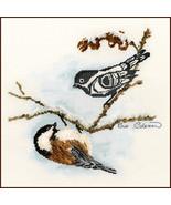 Chickadee cross stitch chart Sue Coleman The Stitching Studio  - $14.40