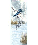 Kingfisher cross stitch chart Sue Coleman The Stitching Studio  - $14.40