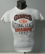 Vintage Handtex San Francisco Giants Single Stitch T Shirt White 1987 Si... - $29.69