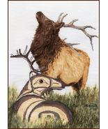 Elk cross stitch chart Sue Coleman The Stitching Studio  - $14.40