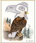 Eagle cross stitch chart Sue Coleman The Stitching Studio  - $14.40