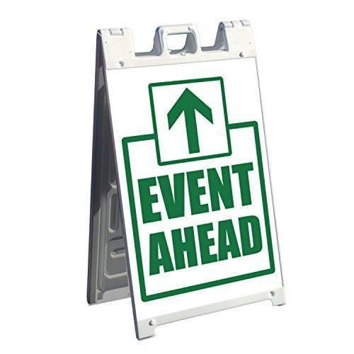 Two Signicade Adhesive Replacement Graphics - Display on Front and Back -. Event