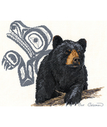 Native Bear (formerly Black Bear) cross stitch Sue Coleman The Stitching... - $14.40