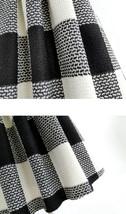 BLACK PLAID Midi Skirt Women Classy Winter Long Plaid Skirt Outfit Plus Size  image 6
