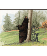Relief Black Bear cross stitch Sue Coleman The Stitching Studio  - $14.40