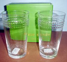 Kate Spade Wickford Highball Set of 2 Glasses 16-oz by Lenox New - $29.90