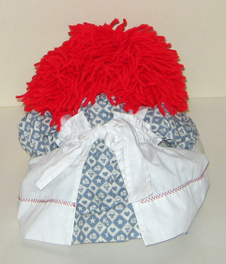 50% off! Raggedy Ann Soft Stuffed Rag Doll New Condition Handmade