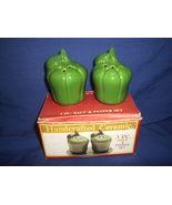Salt Pepper Shakers Vintage Vegetable Green Pep... - $6.50