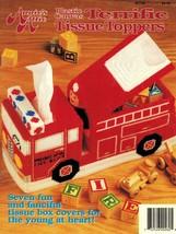 Plastic Canvas Fire Truck Sunbonnet Sue Sam Cat Mouse Fish Tissue Cover Pattern - $16.99
