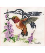 Rufus Hummingbird cross stitch Sue Coleman The Stitching Studio  - $14.40