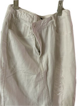 Forever 21 skirt white cotton denim distressed size M new with tags asym... - $25.74
