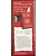 1949 Pall Mall Cigarettes Greater Length Filters Smoke on the Way to You... - $11.69