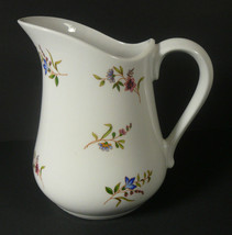 BIA Cordon Bleu Porcelain MARGOT Pitcher 32oz White Floral - $12.80