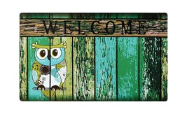 """Non-Slip Home Fashions Owl Welcome Vinyl Back Painting Doormat 30""""X18""""  - $12.16"""