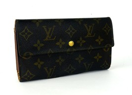 Auth LOUIS VUITTON Monogram Canvas & Leather Trifold Envelope Long Walle... - $187.11