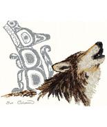 Native Wolf cross stitch Sue Coleman The Stitching Studio  - $14.40