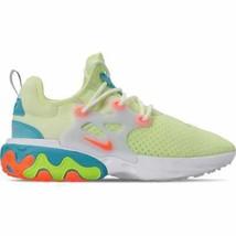 Women's Nike React Presto Running Shoes Barely Volt/Hyper Crimson/Blue G... - $168.63