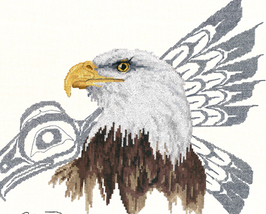 Native Eagle cross stitch Sue Coleman The Stitching Studio  - $14.40