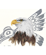 Native Eagle cross stitch Sue Coleman The Stitching Studio  - $14.40