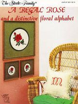 Cross Stitch A Regal Rose Floral Alphabet - $3.95