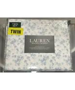 Ralph LAUREN Floral TWIN 3pc Sheet Set(s) White Blue & lavender Flowers ... - $49.98