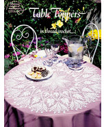 CROCHET TABLE TOPPERS IN THREAD CROCHET   - $4.95