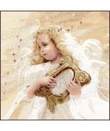Angel Harp cross stitch Donald Zolan The Stitching Studio  - $14.40