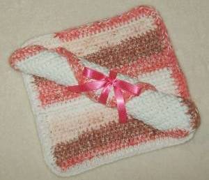 Primary image for Hand Crochet NEOPOLITAN Wash or Dish Cloths Gift Set