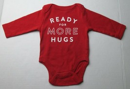 Infant Baby Girls 0-3 months Old Navy Ready for More Hugs Red Shirt - $3.00