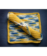 Hand Crochet SUNSHINY DAY Wash or Dish Cloths Gift Set  - $8.00