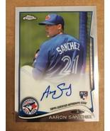 2014 Topps Chrome Aaron Sanchez #RA Rookie Auto Baseball Card Blue Jays ... - $9.99