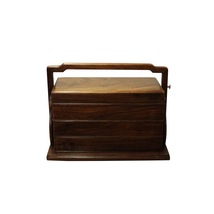 Traditional Vintage Chinese Multi Tray Wood Wedding Basket Box cs4482 - $550.00