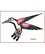 Salish Hummingbird cross stitch Todd Jason Baker The Stitching Studio  - $14.40