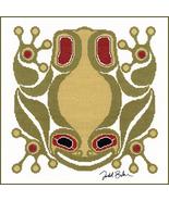 Squamish Frog cross stitch Todd Jason Baker The Stitching Studio  - $14.40