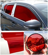 "VViViD Colorful Transparent Vinyl Car Window Tinting 30"" x 60"" 2 Roll (Red) - $37.14"