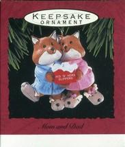 1993 - New in Box - Hallmark Christmas Keepsake Ornament - Mom and Dad - $3.11