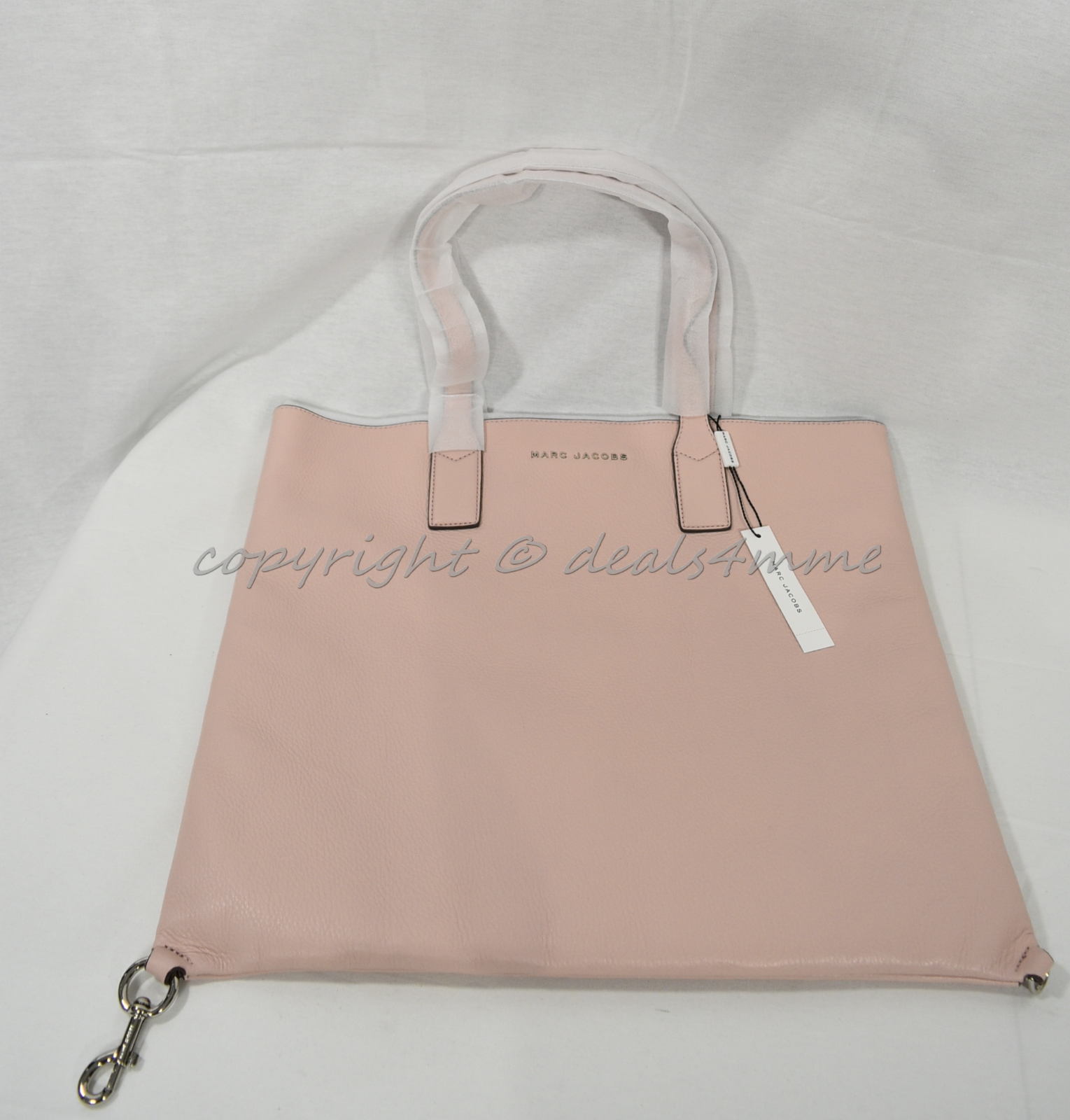 Primary image for MARC By Marc Jacobs M0008126 Wingman Leather Tote / Shoulder Bag in Rose Quartz