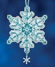 Aqua Crystal snowflake charmed ornament 2012 beaded ornament kit Mill Hill - $6.30