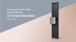 Samsung Push Pull Door Lock SHP-DR700  Wi-Fi Digital Doorlock 2 Card Keys Pin image 1